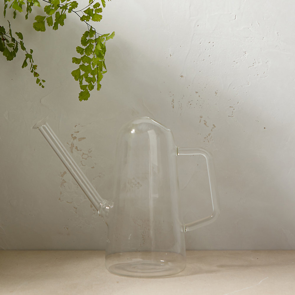 Glass Watering Can The Green Head