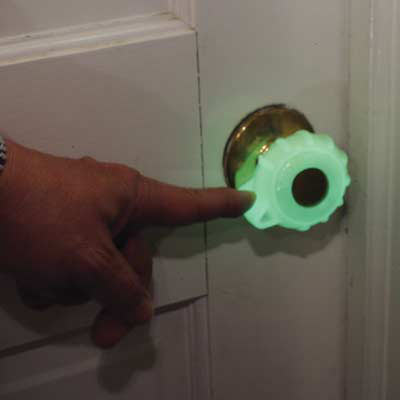 Great Grips GlowintheDark Doorknob Grips The Green Head
