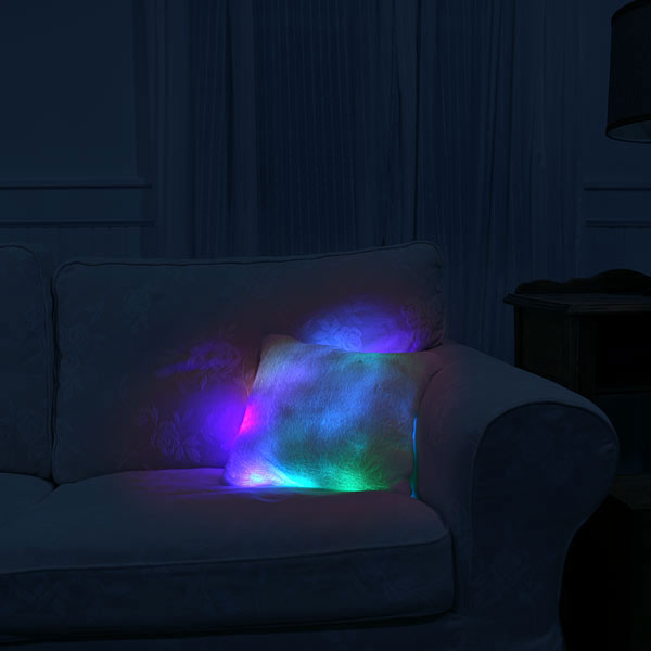 glowing moonlight cushion the green head. Black Bedroom Furniture Sets. Home Design Ideas