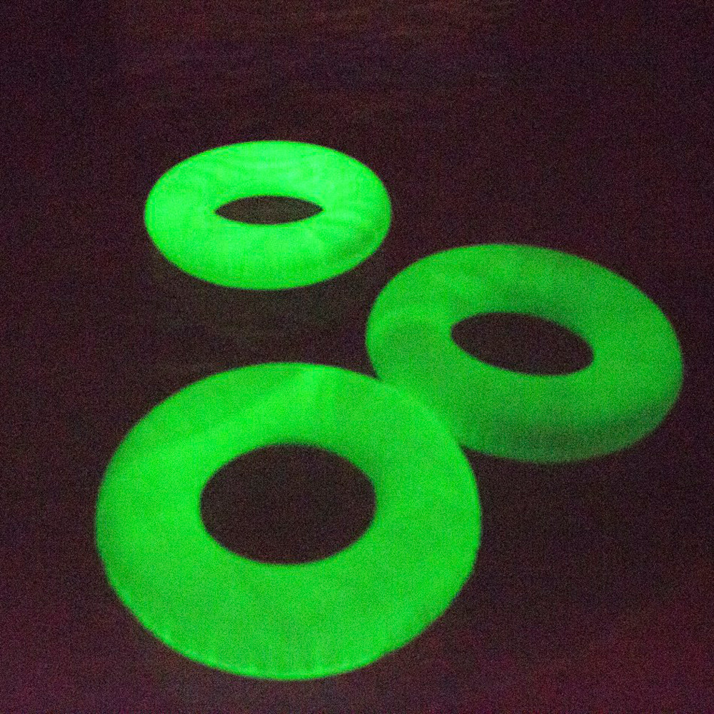 Glowtube World 39 S First Glow In The Dark Pool Float Inner Tube The Green Head