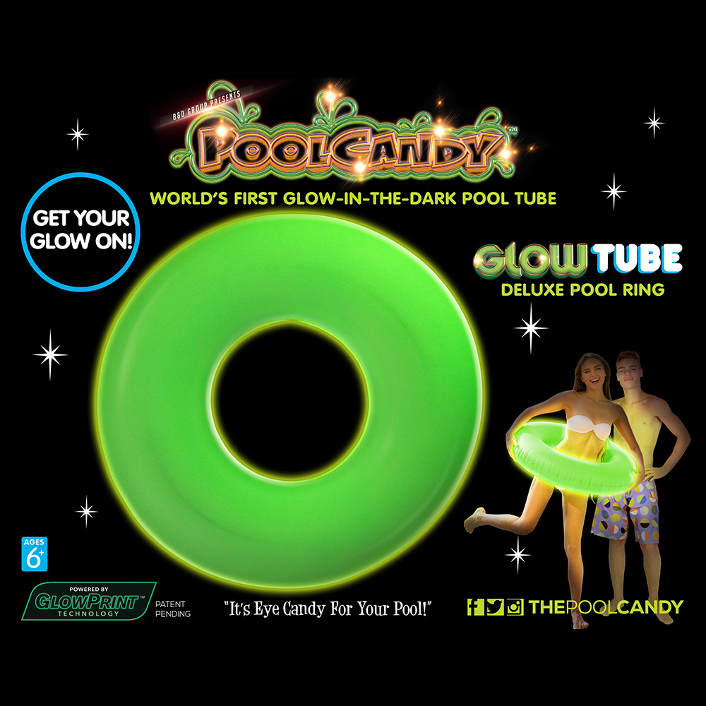 Glowtube World 39 S First Glow In The Dark Pool Float Inner Tube