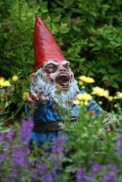 Gnombie Zombie Garden Gnome The Green Head