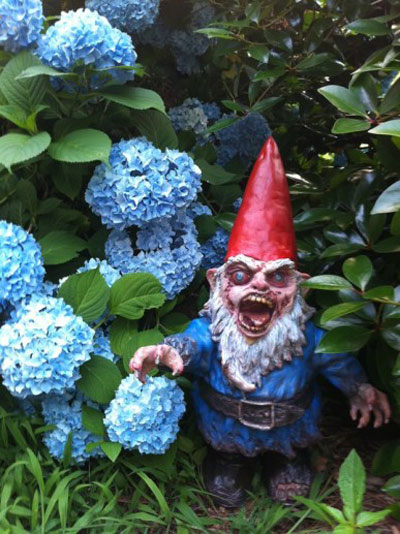 gnombie zombie garden gnome the green head