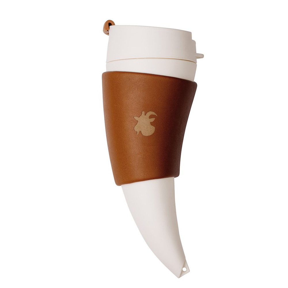 Hot Drink From Horn Cup