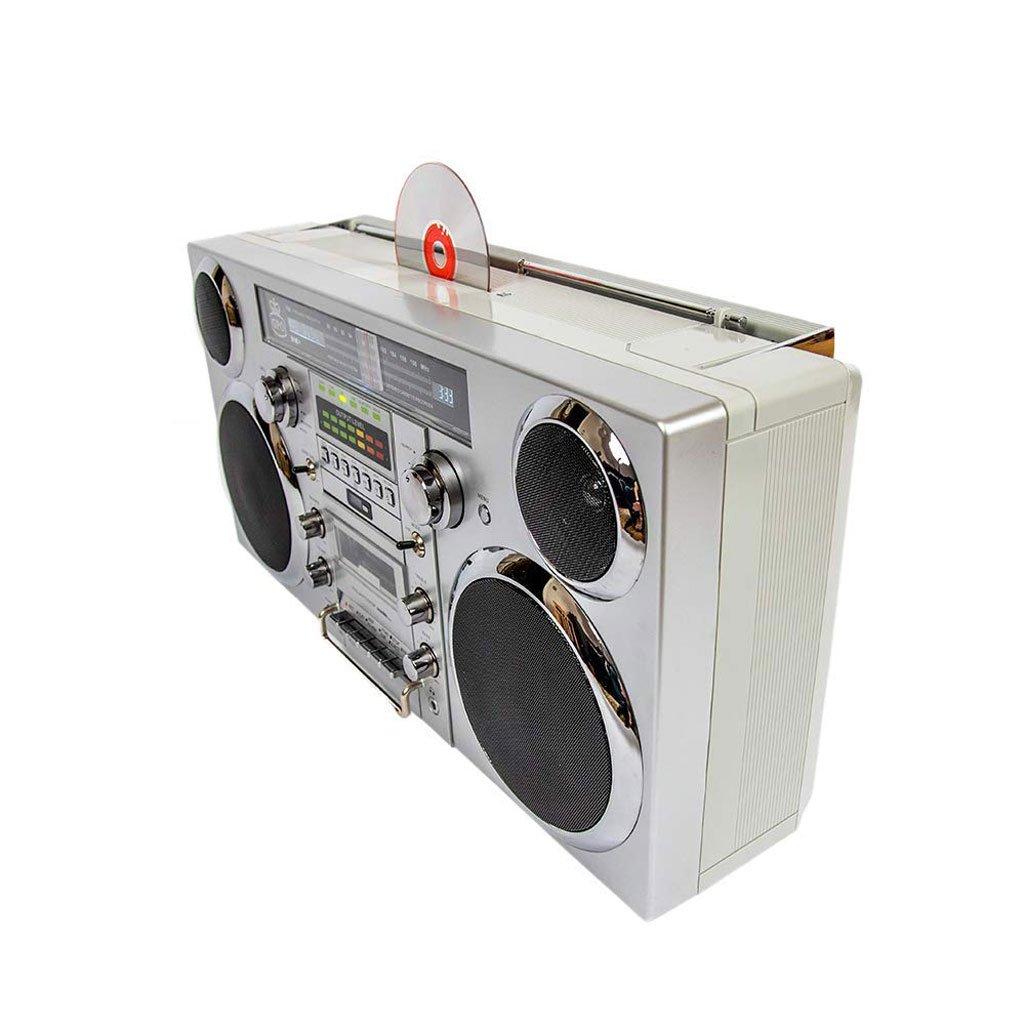 GPO Brooklyn - Portable 1980s Boombox w/ Cassette, CD, Radio