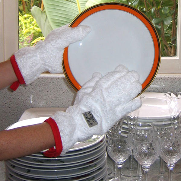 Grab And Dry Absorbant Dish Drying Gloves