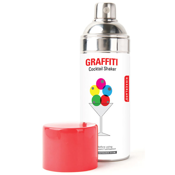graffiti spray paint can cocktail shaker the green head. Black Bedroom Furniture Sets. Home Design Ideas