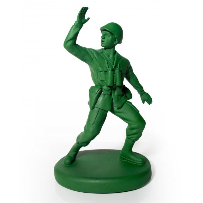 Cool Toy Army Men : Green army man door stop the head
