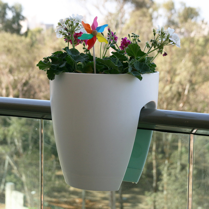 Modern Railing Planters Custom By Rushton: Greenbo Railing Planter