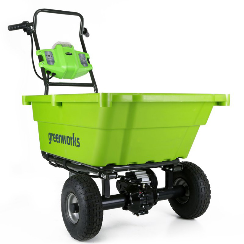 Self Propelled Cart >> Greenworks 40V Self-Propelled Wheelbarrow / Garden Cart ...