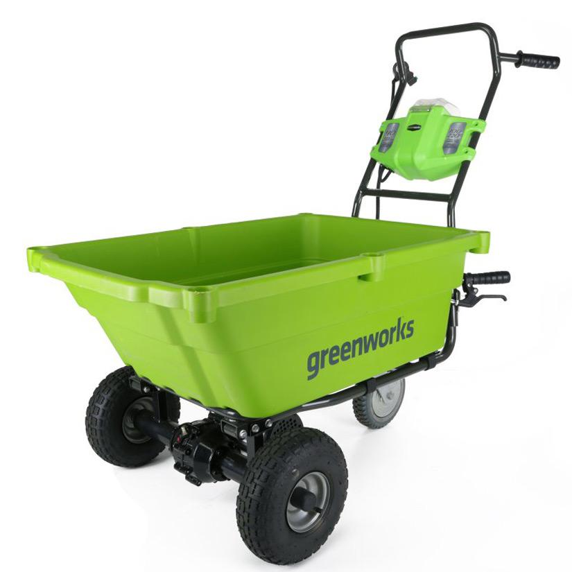 Self Propelled Cart >> Greenworks 40V Self-Propelled Wheelbarrow / Garden Cart ...