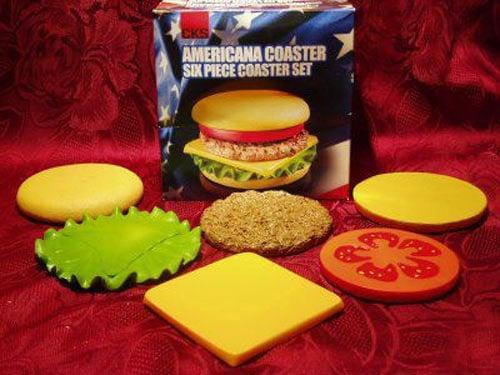 Hamburger Coaster Set Each Piece An Individual Coaster