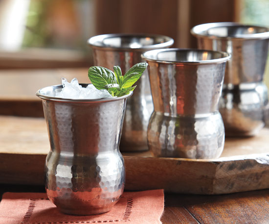 Hammered Stainless Steel Tumblers