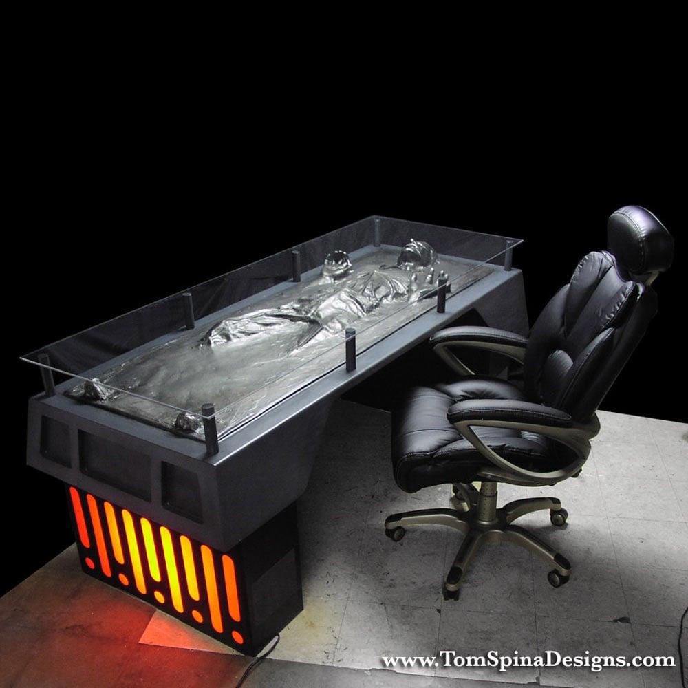 Han Solo Carbonite Desk 1000 x 1000