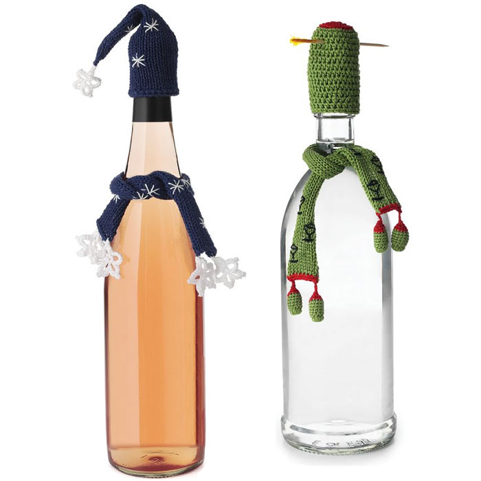 Miniature Hat and Scarf Hand Knitted Bottle Toppers - The ...