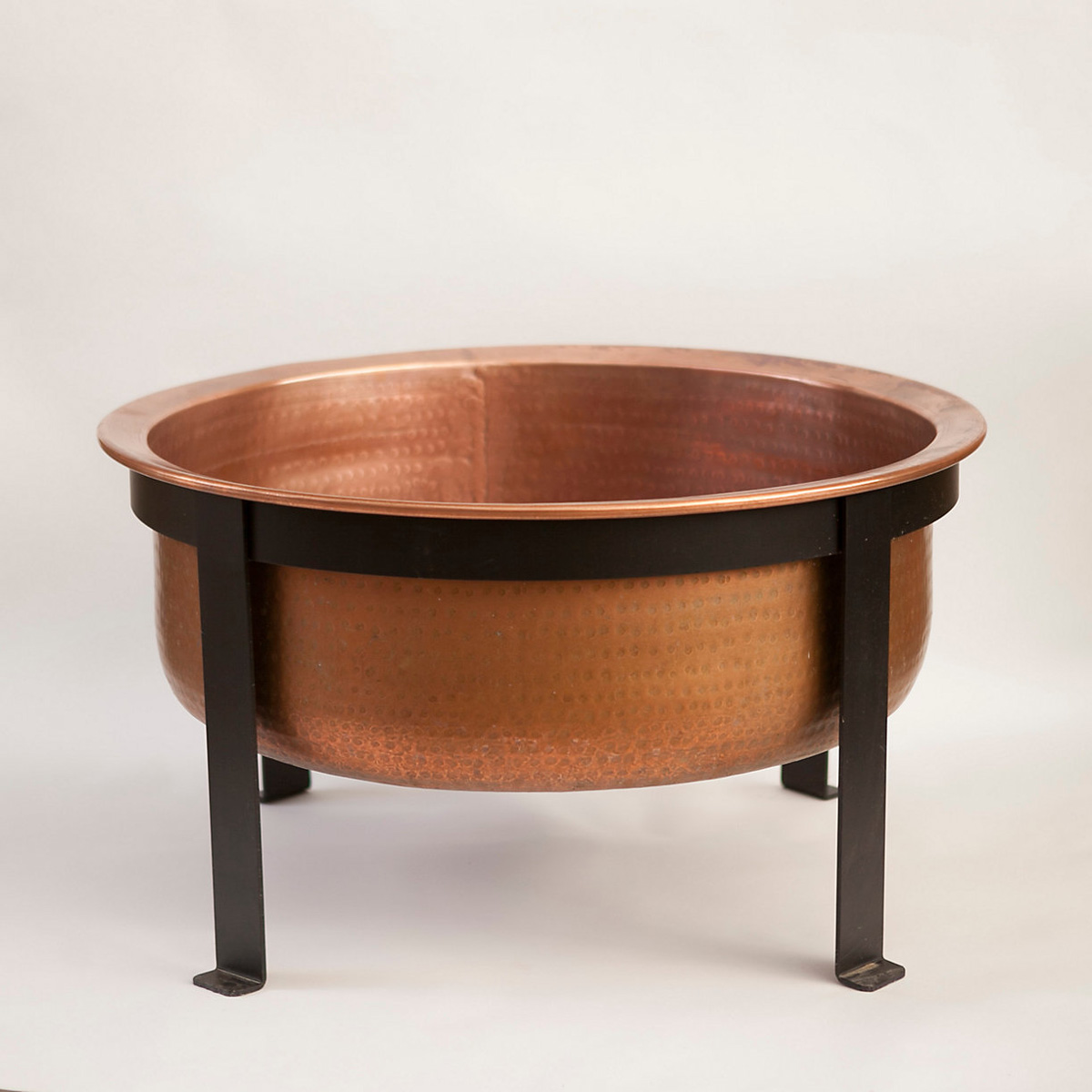 Handcrafted Copper Fire Pit Grill Table The Green Head