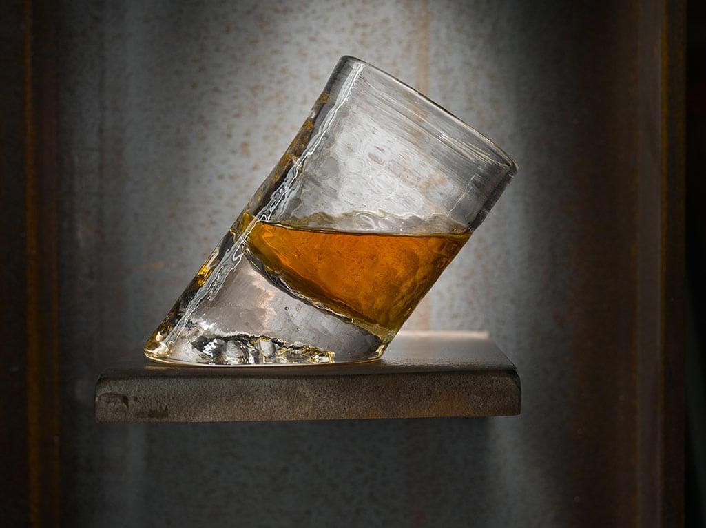 Handmade Slanted Bar Glass