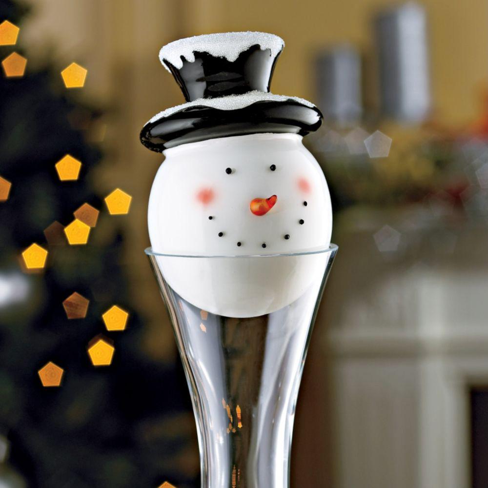 Handmade Snowman Decanter Stopper  The Green Head