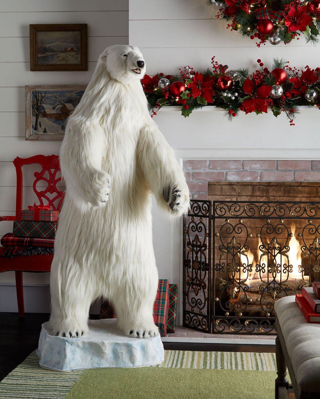Hansa Animatronic Singing Polar Bear Statue