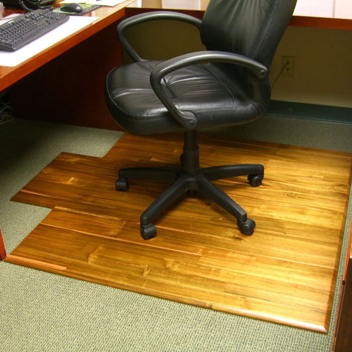 Hardwood Office Chair Mat The Green Head