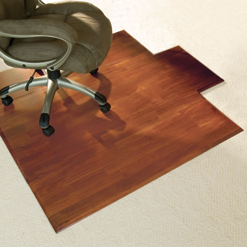 Rolling chair mat for carpet