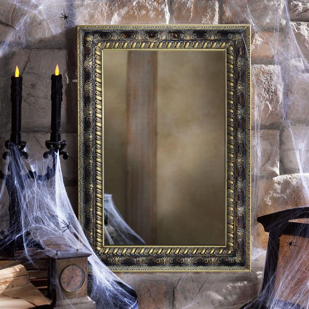 Haunted magic mirror the green head for Mirror on mirror