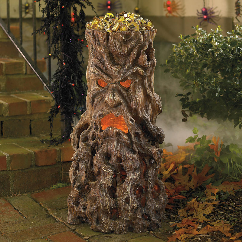 Haunted Tree Stump Candy Stand The Green Head
