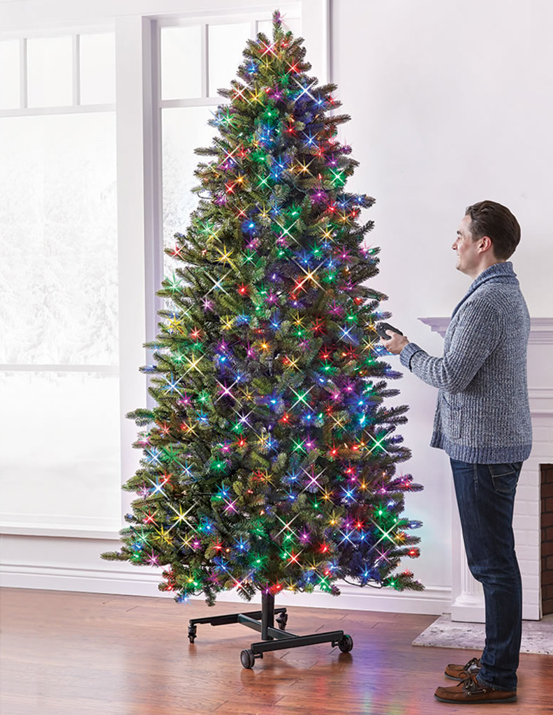 144 Inch 12 Ft Multi Color Led Christmas Tree With Remote Control