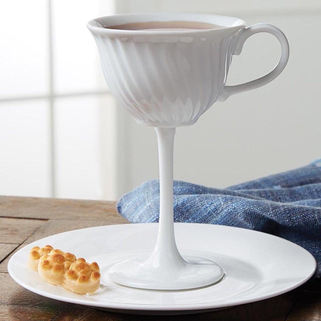 high tea - oversized ceramic tea cup stemware