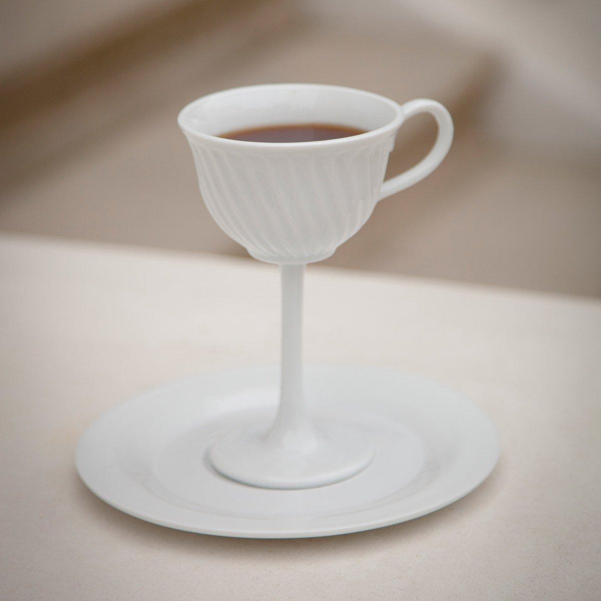 High Tea - Oversized Ceramic Tea Cup Stemware - The Green Head