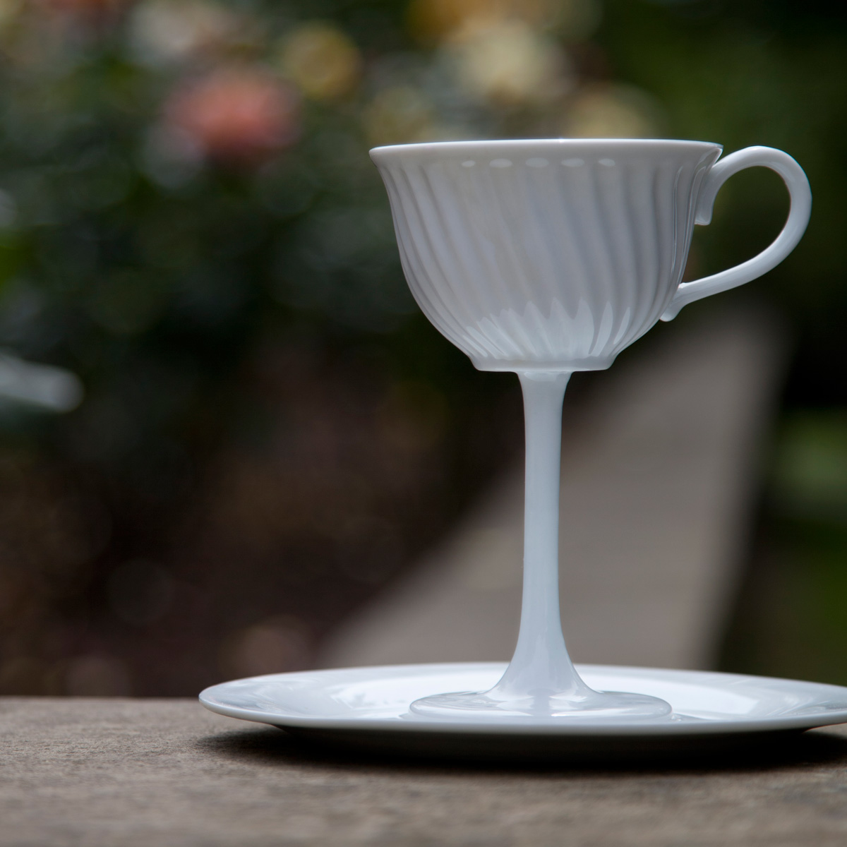High Tea Oversized Ceramic Tea Cup Stemware The Green Head