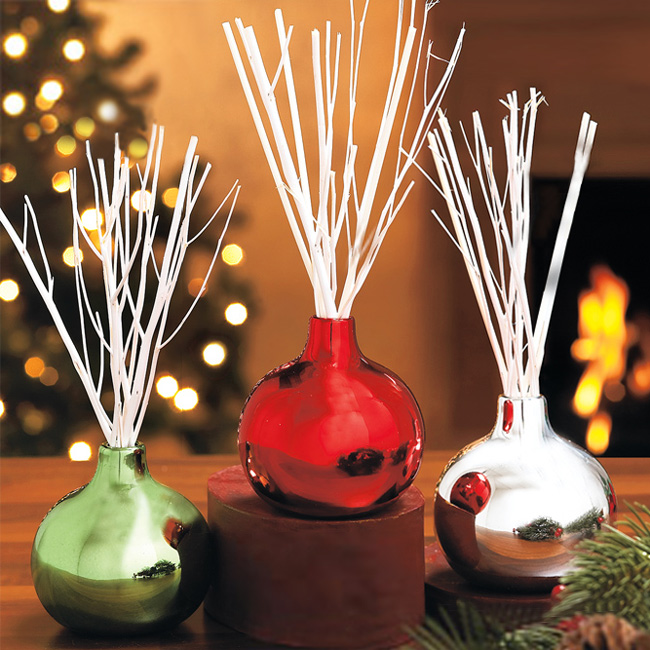 Holiday Scents Bamboo Reed Diffuser Ornaments