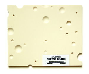100% Grade A Swiss Cheese Serving Board