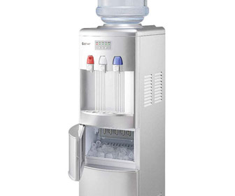 2-in-1 Watercooler with Built-In Ice Maker