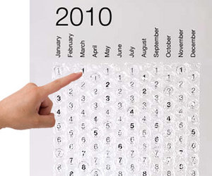 2010 Bubble Wrap Calendar