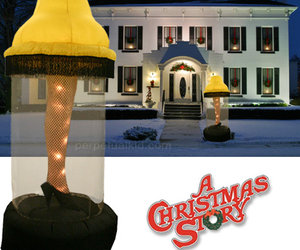 6 Foot Tall Inflatable Leg lamp From A Christmas Story