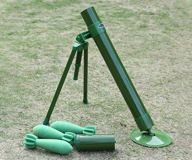 60mm Caliber Soft Foam Mortar Launcher