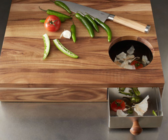 Acacia Storage Cutting Board