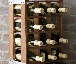Rustic Acacia Wood Crate Wine Racks