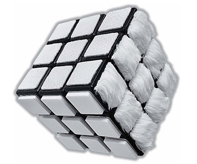 All-White Tactile Rubik's Cube