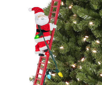 Animated Climbing Santa Claus