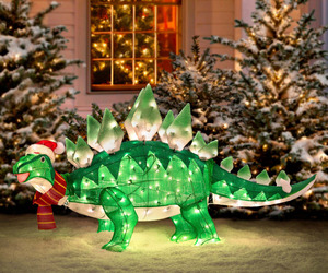 Animated Stegasaurus Dinosaur Christmas Decoration
