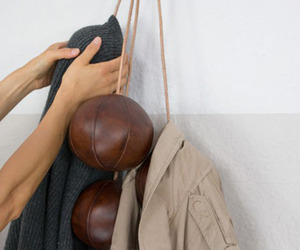 Antique Leather Balls Coat Rack