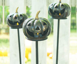Antiqued Copper Pumpkin Stakes