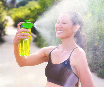Aquabot Pressurized Water Bottle -  Spray Mister, Camp Shower, and Hydration All-in-One
