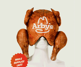 Arby's Deep Fried Turkey Pillow / Sleep Mask