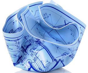 Architect's Crumpled Blueprint Paperweight