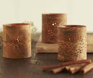 Aromatic Cinnamon Bark Tealight Candle Holders