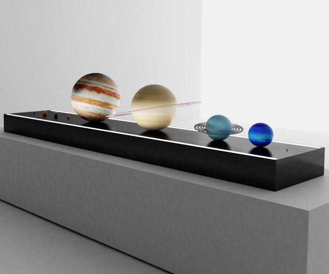 AstroReality Solar System To Scale Model Set