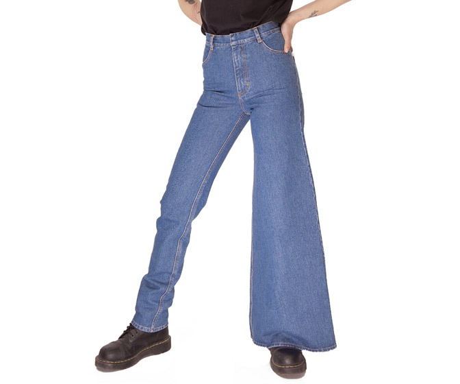 Asymmetric Skinny and Wide-Leg Jeans